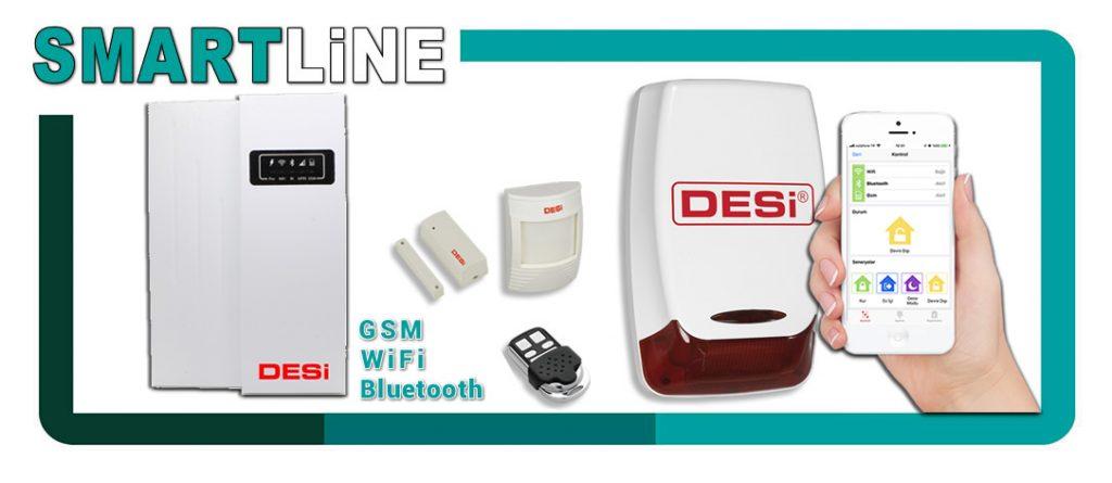 Desi Smartline akıllı ev işyeri alarm sistemi GSM sim kartlı Uzaktan kontrol alarm