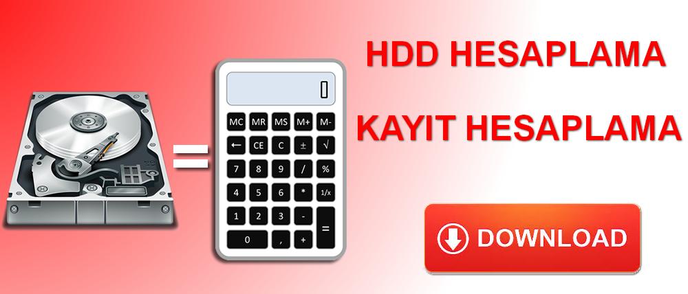 Hdd Disk Kapasitesi Hesaplama